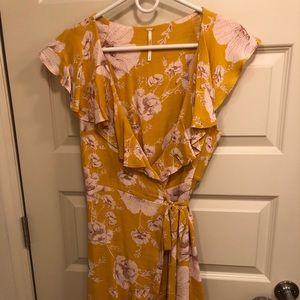 Free People French Quarter Floral Wrap Dress